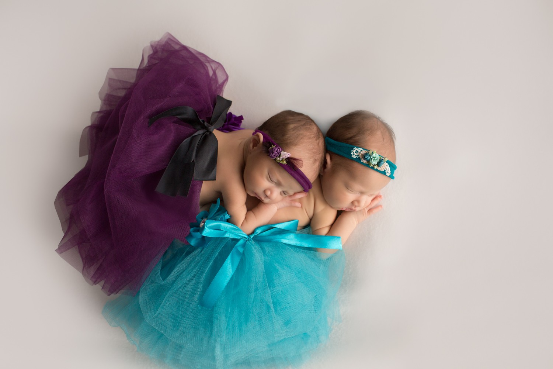 NewbornTwinGirls_TealandPurpleTutu_GainesvilleFlorida-16