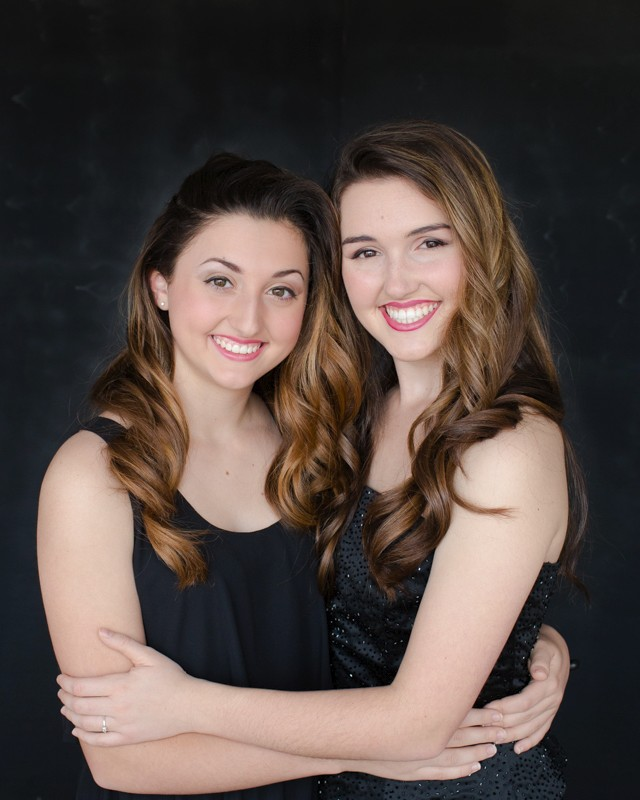 Sisters celebrate beauty with glamor photos black dresses and sequins Gainesville Florida Womens Portraiture