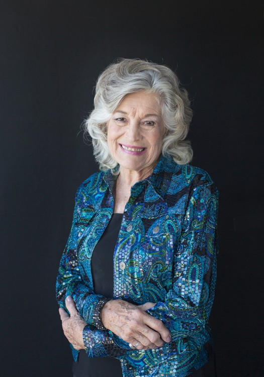 Elegant 86 year old woman in black and aqua glitter blazer celebrates beauty with glamor photos Gainesville Florida Womens Portraiture
