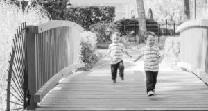 Joyful Two Year Old Twin Family Pictures taken in Tioga,Florida