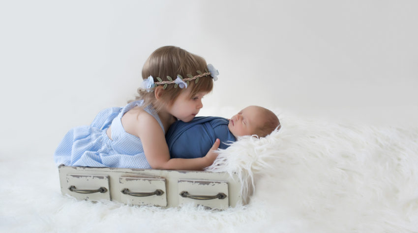 BIG SISTER LITTLE BROTHER | GAINESVILLE NEWBORN PHOTOGRAPHER