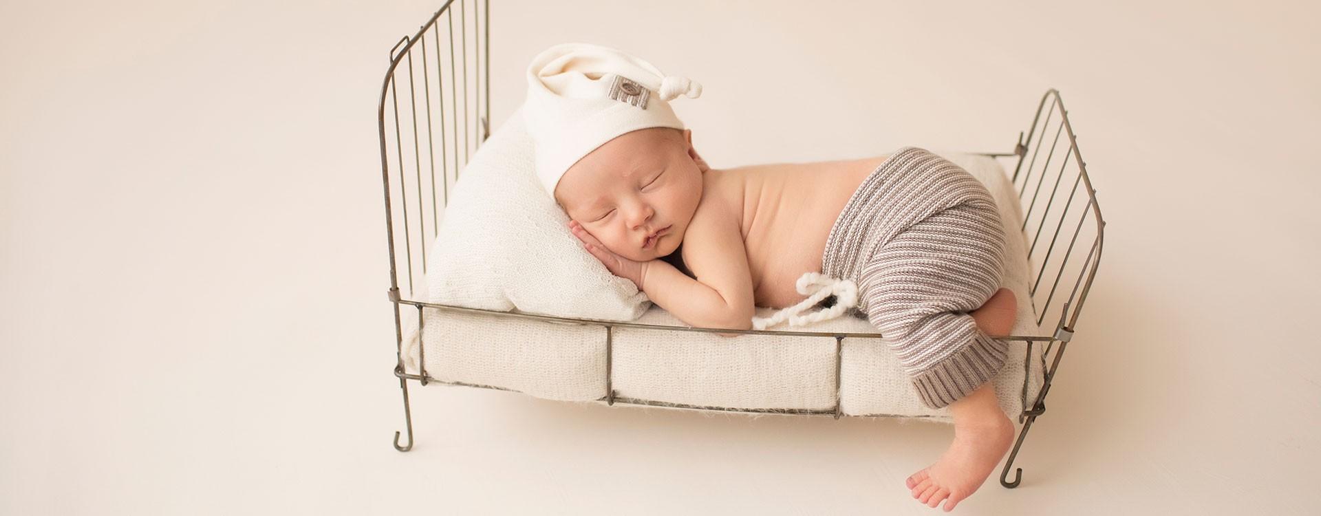 Jonah-Newborn-Photos-little-metal-bed-3797-5