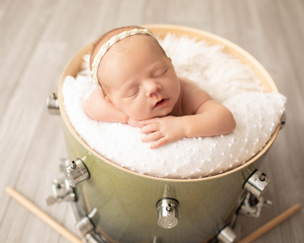 baby photo with drum